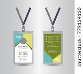 creative simple id card design  ... | Shutterstock .eps vector #779124130
