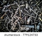 abstract hdr  metallic for... | Shutterstock . vector #779124733