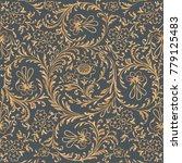 seamless pattern. plant... | Shutterstock .eps vector #779125483