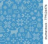 christmas seamless pattern.... | Shutterstock .eps vector #779126476