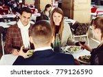 group of friends enjoying... | Shutterstock . vector #779126590