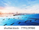 skyscrapers and solar panels ... | Shutterstock . vector #779129980