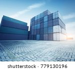 stack of cargo containers at... | Shutterstock . vector #779130196