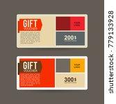 gift voucher business consumer...   Shutterstock .eps vector #779133928