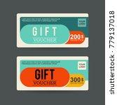 gift voucher sale vector...   Shutterstock .eps vector #779137018