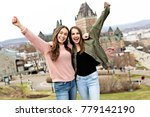 a quebec city scape with... | Shutterstock . vector #779142190