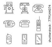 phone history. evolution.... | Shutterstock .eps vector #779144074