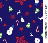doodle vector seamless pattern...