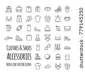 clothes  shoes  accessories...   Shutterstock .eps vector #779145250