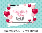 valentines day sale  discont... | Shutterstock .eps vector #779148403