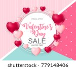 valentines day sale  discont... | Shutterstock .eps vector #779148406