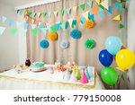 happy birthday decoration | Shutterstock . vector #779150008