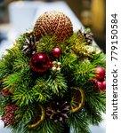decorated christmas small fir... | Shutterstock . vector #779150584
