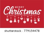 merry christmas greeting card... | Shutterstock .eps vector #779154478