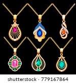 illustration set of necklace... | Shutterstock .eps vector #779167864