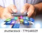 businessman or engineer holding ...   Shutterstock . vector #779168329