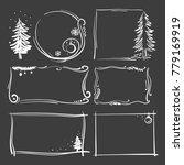 set of new year's frames.... | Shutterstock .eps vector #779169919