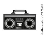 old radio stereo icon vector... | Shutterstock .eps vector #779171698