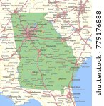 georgia map. shows state... | Shutterstock .eps vector #779176888