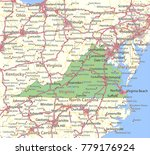 virginia map. shows state... | Shutterstock .eps vector #779176924