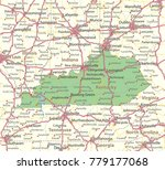 kentucky map. shows state... | Shutterstock .eps vector #779177068