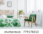 fresh plant in wicker basket... | Shutterstock . vector #779178313