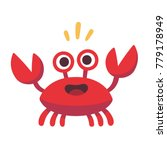 Cute Cartoon Red Crab Drawing....