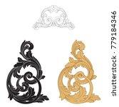 classical baroque vector set of ... | Shutterstock .eps vector #779184346