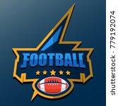 american football logo template.... | Shutterstock .eps vector #779192074