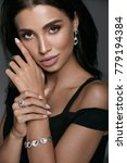 jewelry fashion. beautiful... | Shutterstock . vector #779194384