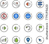 line vector icon set  ... | Shutterstock .eps vector #779195620