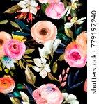 seamless floral pattern | Shutterstock . vector #779197240
