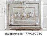 closed metal door of an old... | Shutterstock . vector #779197750