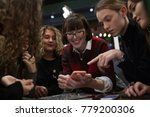 group of positive teens use a...   Shutterstock . vector #779200306