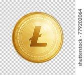 golden litecoin coin. crypto... | Shutterstock .eps vector #779202064