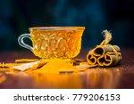 close up of tea of cinnamon...   Shutterstock . vector #779206153