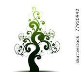 beautiful art tree and green... | Shutterstock .eps vector #77920942