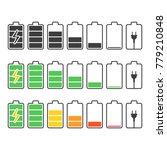 battery indicator icons set....   Shutterstock .eps vector #779210848