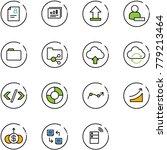 line vector icon set   patient... | Shutterstock .eps vector #779213464