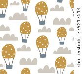 childish seamless pattern with... | Shutterstock .eps vector #779217514