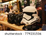 Small photo of Bangkok, Thailand - December 16, 2017: Storm Trooper Head Bluetooth Speaker from The Movie Star Wars