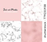 foil and marble collection of... | Shutterstock .eps vector #779231938