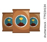 fertilizer bags isolated icon | Shutterstock .eps vector #779234134