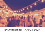 vintage tone blur image of food ... | Shutterstock . vector #779241424