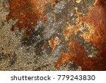 surface of rusty iron  rusty... | Shutterstock . vector #779243830