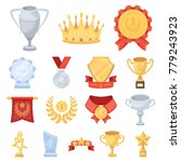 awards and trophies cartoon... | Shutterstock .eps vector #779243923