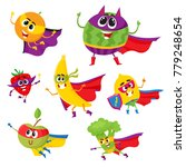 set of fruit and berry hero ... | Shutterstock .eps vector #779248654