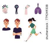 set of bionic  artificial... | Shutterstock .eps vector #779249338