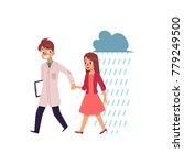 male doctor  psychiatrist... | Shutterstock .eps vector #779249500
