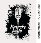 vector banner with microphone... | Shutterstock .eps vector #779254600